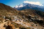 Pictures of Nepal - Everest Trek - Namche Bazaar, the largest village in the Khumbu region