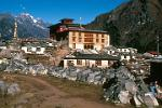 Pictures of Nepal - Everest Trek - Tengboche Monastery with Mani Stones (prayer stones)