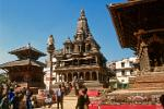Pictures of Nepal - Kathmandu Valley - the Krishna Mandir in Patan's Durbar Square