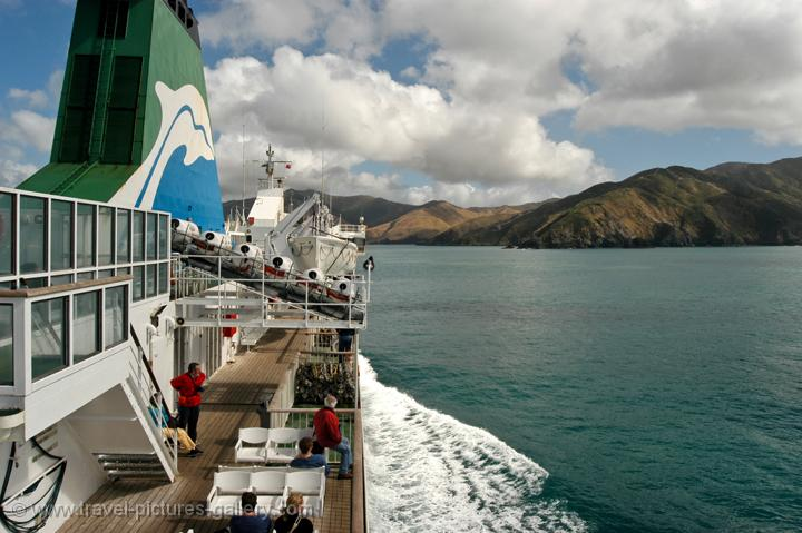 on the ferry from Wellington to Picton