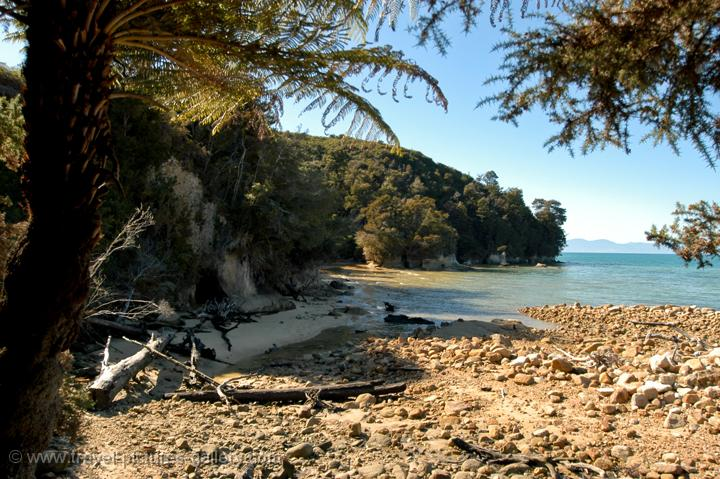 hidden cove along the Abel Tasman Coastal Track