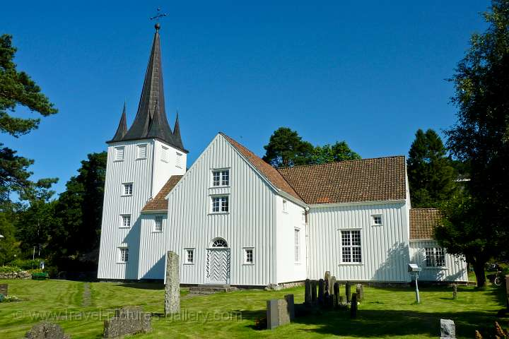 traditional wooden church, Sogndal, Rogaland
