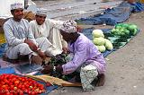 Pictures of Oman - men at the market, Barka