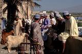 men gathering at Nizwa market