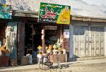 shop in Gilgit selling herbs and spices