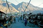 street stalls selling hats in Gilgit