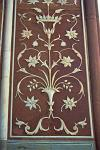 Pietra Dure, inlaid marble, at the Badshahi Mosque