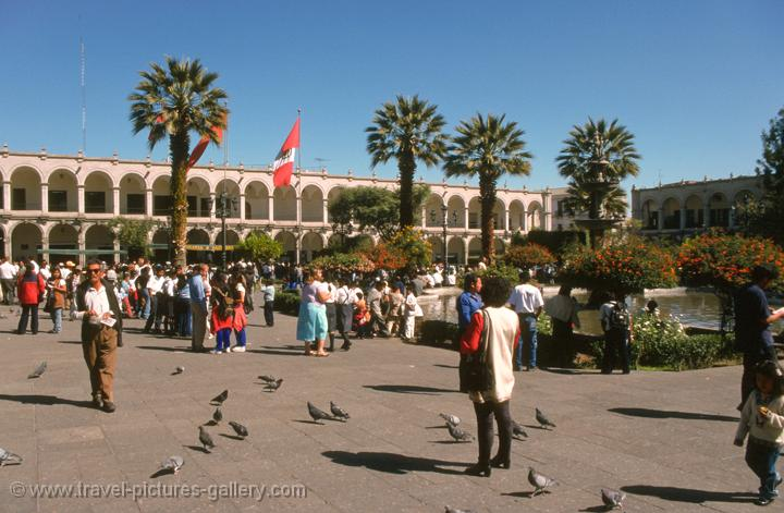 at the Plaza de Armas