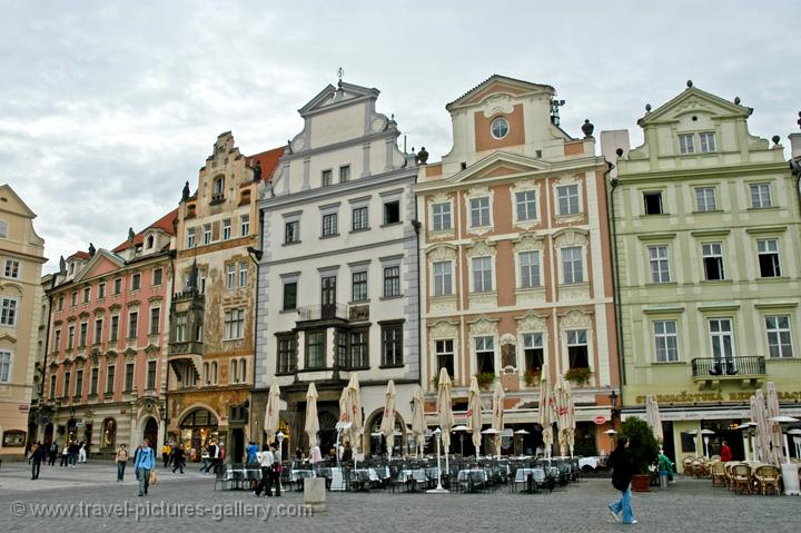 houses on the Old Town Square