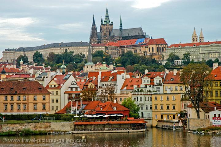 Prague castle and the St Vitus cathedral, (Hradcany)