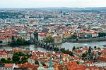 Pictures of the Czech Republic - Prague- Charles Bridge, the Moldova (Moldau) River and the city from St. Vitus Cathedral