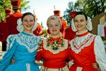 traditionally dressed girls, Rostov Veliky