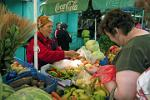 fresh vegetables at Novgorod market