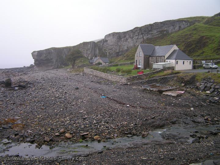 Isle of Skye, Elgol, house, pebble beach