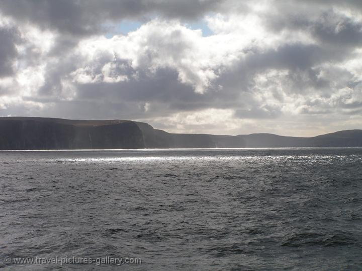 Scotland - Orkney Islands - reflecting sunlight