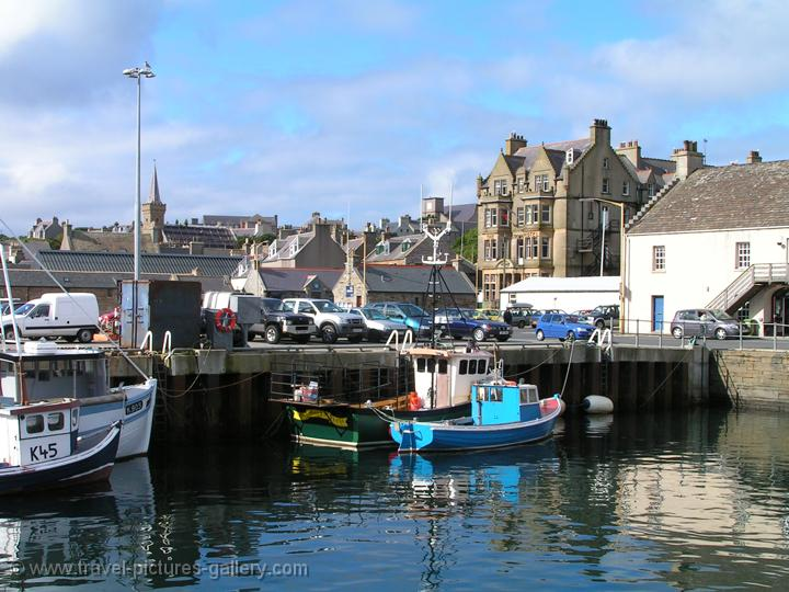 Stromness, the second-largest town in the Orkney Islands