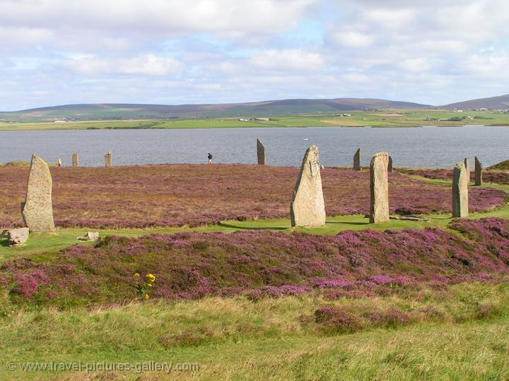 the Ring of Brodgar, a Neolithic henge and stone circle