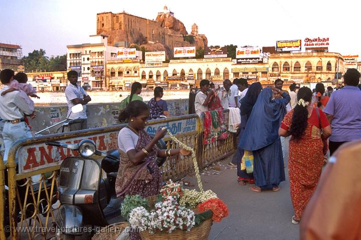 Trichy (Tiruchirappalli), the Rock Fort in the background
