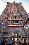 a Gopuram or temple tower, Sri Meenakshi Temple