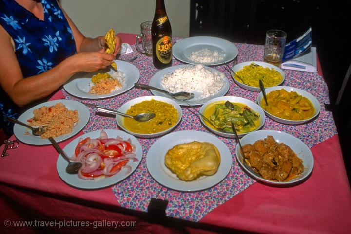 Pictures of Sri Lanka - Galle - spicy and delicious Sri Lankan food