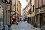 shops in historic Gamla Stan, the Old Town