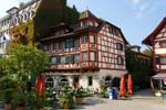 Lucerne, (Luzern), Hofstube, a local inn, halfbrick architecture