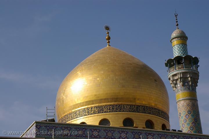 Pictures of Syria - Damascus, the golden dome of Saida Zeinab Mosque