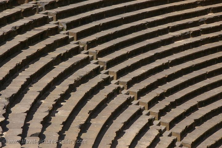 Bosra, seats at the Roman theatre