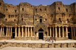 Pictures of Syria - Bosra, main stage of the theatre