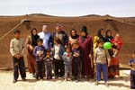Bedouin family, man, wives and chidren