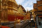 gilded shrines and Buddhas at Doi Suthep temple