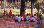 students attending a Buddhist lecture