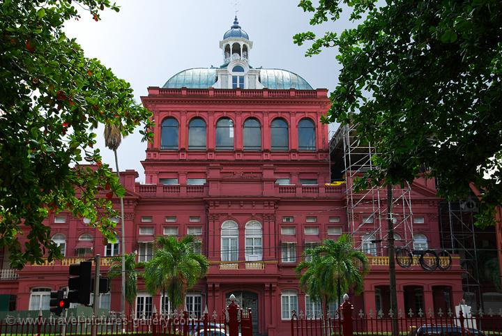 Pictures of Trinidad & Tobago - Port of Spain - the Red House, Parliament building, Woodford Square