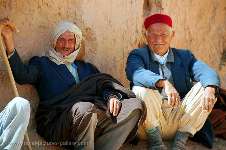Berber men relaxing in the shade