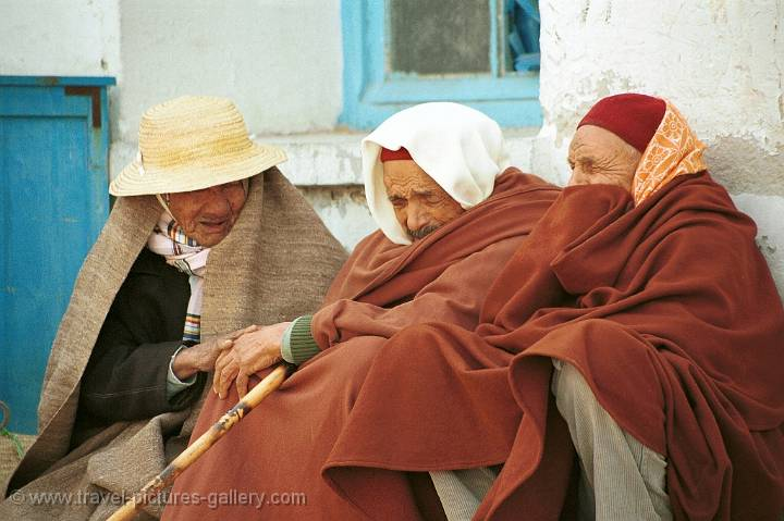 old Berber men resting