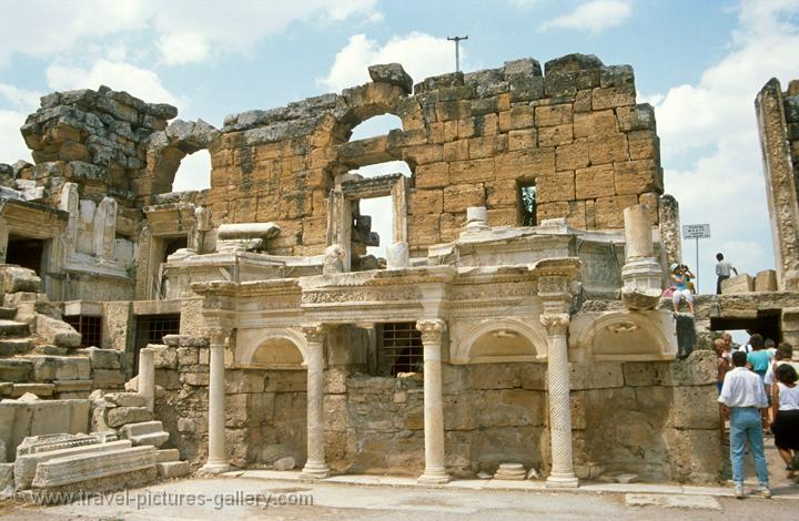 Pictures of Turkey - Pamukkale - Hierapolis-0015 - ruins of the ancient Greco...