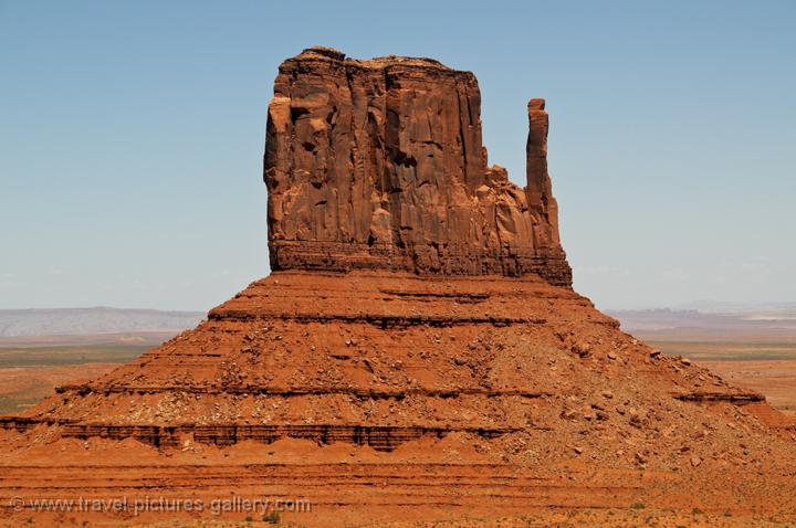 eroded sandstone buttes, Monument Valley Navajo Tribal Park