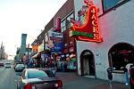 Lower Broadway, home to many famous honky tonk bars
