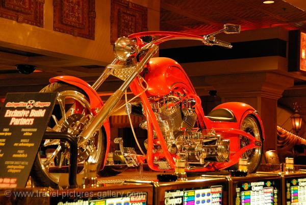 Nevada - Las Vegas, chopper bike in a casino