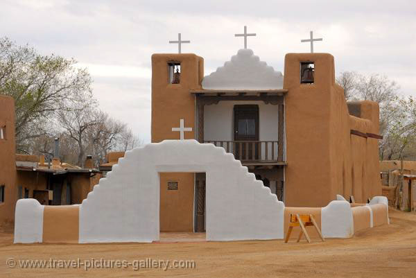 New Mexico- Taos, Pueblo, adobe architecture, church