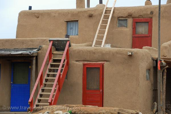 New Mexico- Taos, Pueblo, adobe architecture