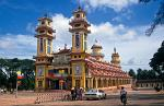 the Cao Dai Temple in Tay Ninh