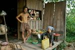 people at a local village store, Mekong River Delta