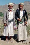 traditionally dressed men with their daggers, Al Mahwit