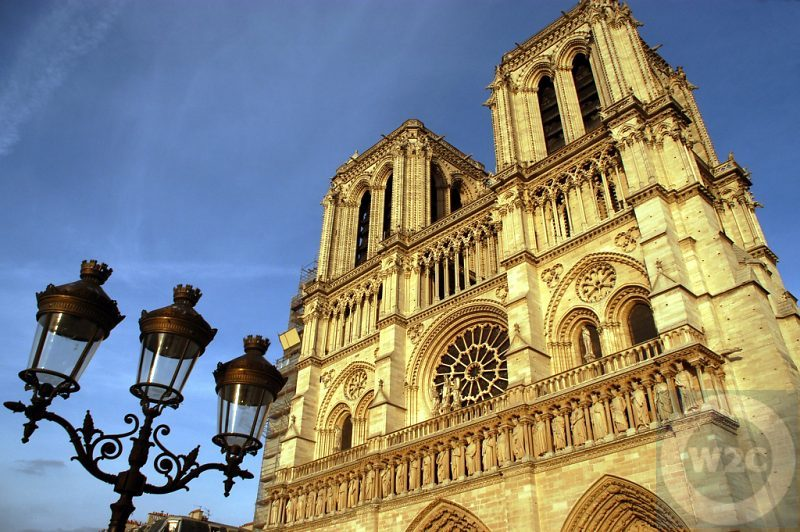 France - Paris - Notre Dame Cathedral in late afternoon sun