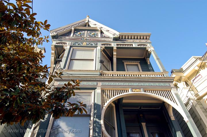 pretty Victorian house near Alamo Square