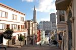 downtown with the Transamerica Pyramid landmark